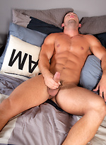 Evan Shaw strokes his muscle cock