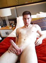 Hung German Max Leider bathing his super fat cock