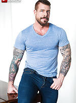 Logan Moore Sucks And Rides Rocco Steele's 10-Inch Cock